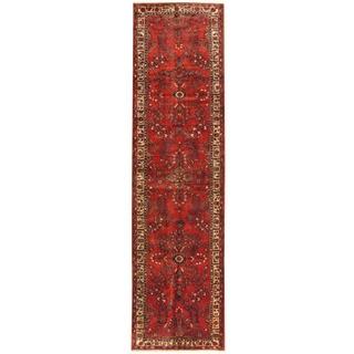 Herat Oriental Persian Hand-knotted Tribal Hamadan Wool Runner (3'7 x 13'3)
