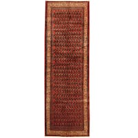 Herat Oriental Persian Hand-knotted Tribal Hamadan Wool Runner (3'10 x 11'10)
