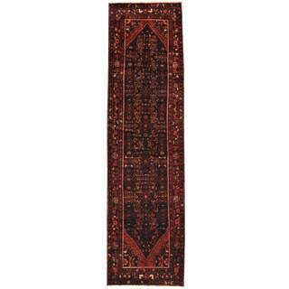 Herat Oriental Persian Hand-knotted Tribal Hamadan Wool Runner (3'8 x 13'4)