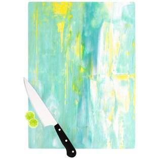KESS InHouse CarolLynn Tice Spring Forward Green Cutting Board