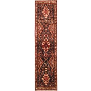 Herat Oriental Persian Hand-knotted Tribal Hamadan Wool Runner (3'6 x 13'10)
