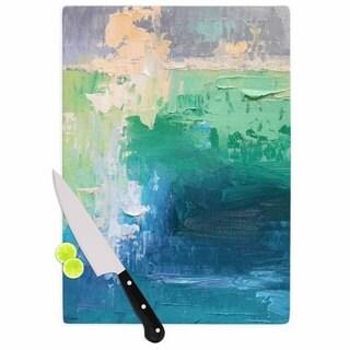 KESS InHouse Carol Schiff 'Sea Music' Teal Painting Cutting Board
