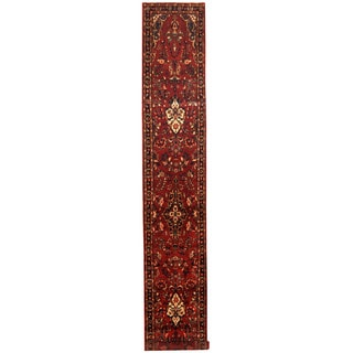 Herat Oriental Persian Hand-knotted Tribal Hamadan Wool Runner (2'8 x 17')