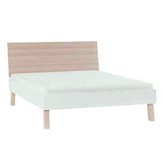Voelkel Spot Collection, Queen Bed with Flat Headboard and Wooden Bedslats on Tape.