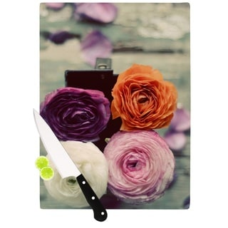 KESS InHouse Cristina Mitchell 'Four Kinds of Beauty' Roses Cutting Board