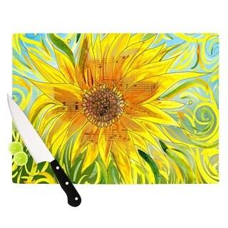 KESS InHouse Catherine Holcombe 'Syaured' Yellow Green Cutting Board