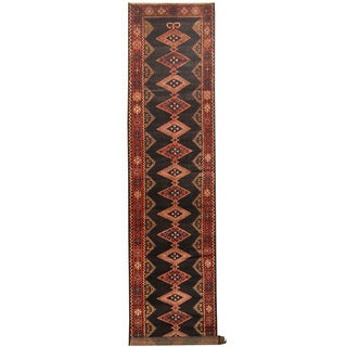 Herat Oriental Persian Hand-knotted Tribal Hamadan Wool Runner (3'8 x 17'6)