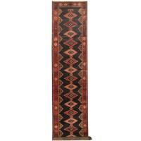 Handmade Herat Oriental Persian Tribal Hamadan Wool Runner (Iran) - 3'8 x 17'6