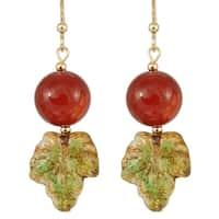 Carnelian and Glass Rowan Berry Earrings