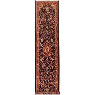 Herat Oriental Persian Hand-knotted Tribal Hamadan Wool Runner (3'10 x 15'7)
