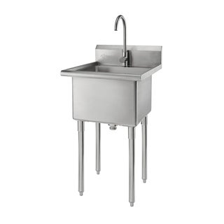 Trinity Stainless Steel Single-basin Utility Sink