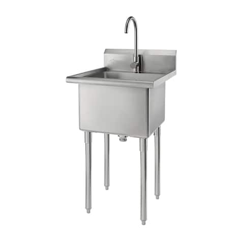 Trinity Stainless Steel Single-basin Utility Sink