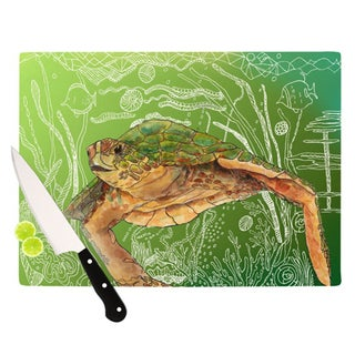 KESS InHouse Catherine Holcombe 'Shelley Green Sea' Cutting Board