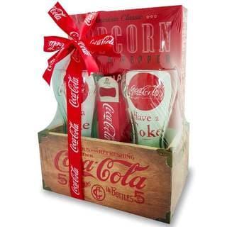 Coca-Cola Wood Crate Gift Set