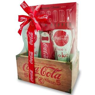 Coca-Cola Wood Crate Gift Set