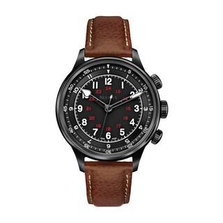 Bulova Mens 65A106 Leather Brown Accu Swiss Mechanical Hand Wind Watch