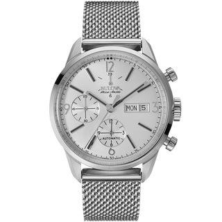 Bulova Mens Stainless Steel Silver Accu Swiss Bracelet Watch