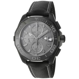 Tag Heuer Men's CAY218B.FC6370 'Aquaracracer' Chronograph Automatic Black Canvas Watch