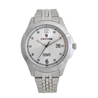 Croton Mens CN307562SSSD Stainless Silvertone 10 Diamond dial Watch|https://ak1.ostkcdn.com/images/products/13149512/P19876706.jpg?impolicy=medium