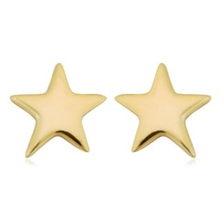 Fremada Italian 10k Yellow Gold Small Star Stud Earrings