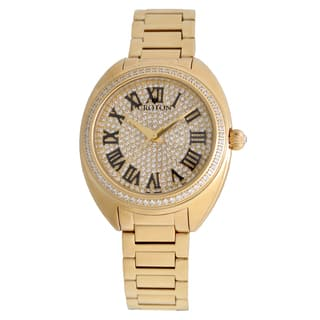 Croton Ladies CN207564YLPV Stainless Goldtone Swiss Quartz with Set CZ Bezel and Pave Dial Watch|https://ak1.ostkcdn.com/images/products/13149536/P19876708.jpg?impolicy=medium
