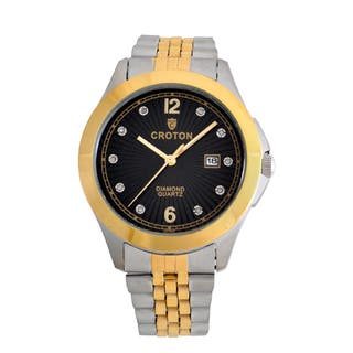 Croton Mens CN307562TTBD Stainless Two Tone 10 Diamond dial Watch|https://ak1.ostkcdn.com/images/products/13149554/P19876713.jpg?impolicy=medium