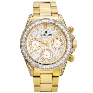 Croton Mens CN307565YLCR Stainless CZ Watch