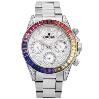 Croton Men's CN307565SSMC Stainless Silvertone Multi-function Watch