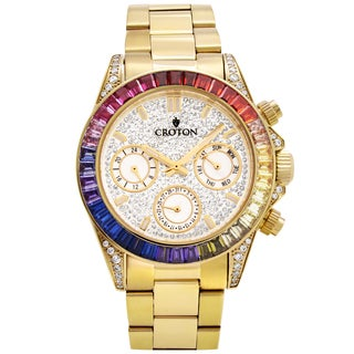 Croton Men's CN307565YLMC Stainless Goldtone Multi-function Watch