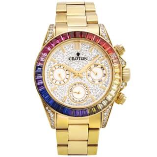 Croton Men's CN307565YLMC Stainless Goldtone Multi-function Watch|https://ak1.ostkcdn.com/images/products/13149589/P19877159.jpg?impolicy=medium