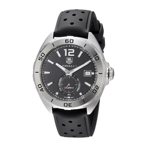 Tag Heuer Men's WAZ2110.FT8023 'Formula One' Automatic Black Leather Watch