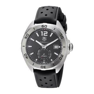 Link to Tag Heuer Men's WAZ2110.FT8023 'Formula One' Automatic Black Leather Watch Similar Items in Men's Watches