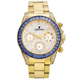 Croton Men's CN307565YLBL Stainless Goldtone Multi-function Watch