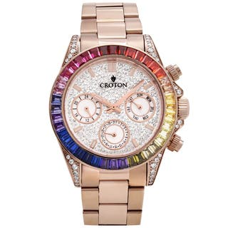 Croton Men's CN307565RGMC Stainless Rosetone Multi-function Watch|https://ak1.ostkcdn.com/images/products/13149598/P19877163.jpg?impolicy=medium