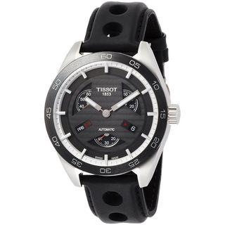 Tissot Men's T1004281605100 'PRS 516' Chronograph Automatic Black Leather Watch
