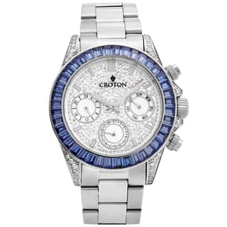 Croton Men's CN307565SSBL Stainless Silvertone Multi-function Watch|https://ak1.ostkcdn.com/images/products/13149880/P19877164.jpg?impolicy=medium