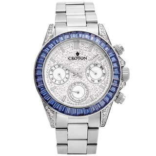 Croton Men's CN307565SSBL Stainless Silvertone Multi-function Watch