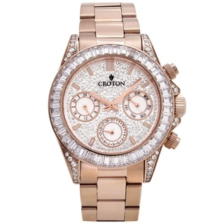 Croton Men's CN307565RGCR Stainless Rosetone Multi-function Watch