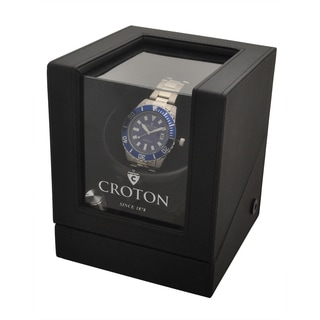 Croton Men's CA301294BKWD Stainless Stilvertone with Watch Winder Watch