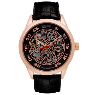 Croton Mens CI331095RGBK Stainless Rosetone Imperial China Automatic Strap Watch