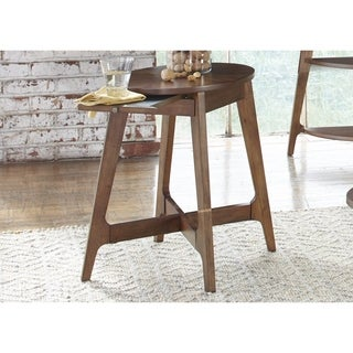 Landon Dark Blonde Modern Oval Chair Side Table