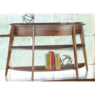 Landon Dark Blonde Modern Demi-Lune Sofa Table