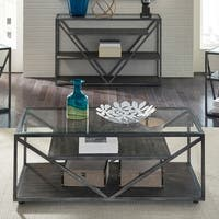 Arista Cobblestone Brown and Grey Dusty Wax Cocktail Table
