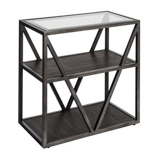 Arista Cobblestone Brown and Grey Dusty Wax Chair Side Table