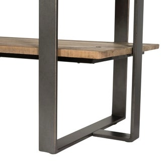 Baja Weathered Planked Top and Pewter TV Stand