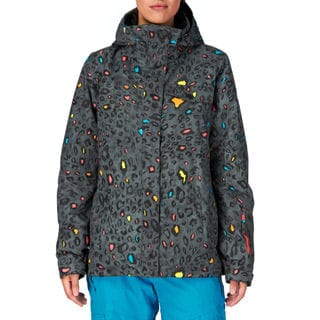 Roxy Women's Quicksilver 10k Multicolored Polyester Snowboarding Jacket