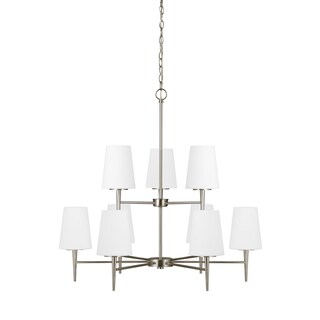 Sea Gull Driscoll 9 Light Brushed Nickel Chandelier