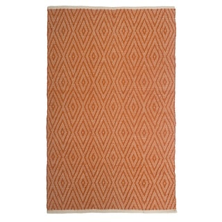 Fab Habitat - Windsor - Orange Indoor Outdoor PET (Polyester Fiber) Rug