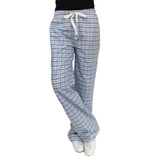 Cole Daniel Women's Blue/White Cotton Lounge Pants