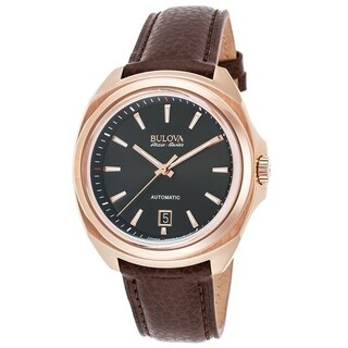 Bulova Mens 64B126 Leather Brown 'Telc' Automatic Casual Watch